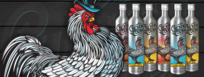 Chicken Cock Whiskey Packaging Design