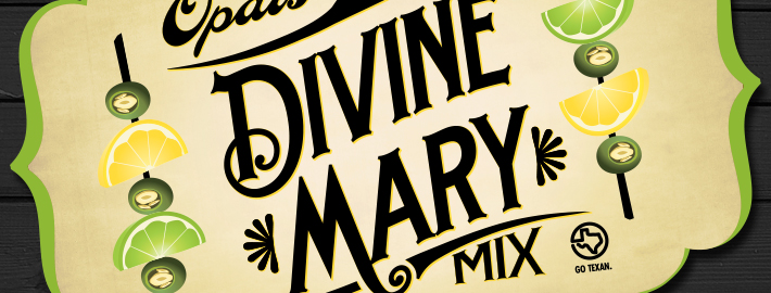 Opal's Divine Mary Mix Packaging Design